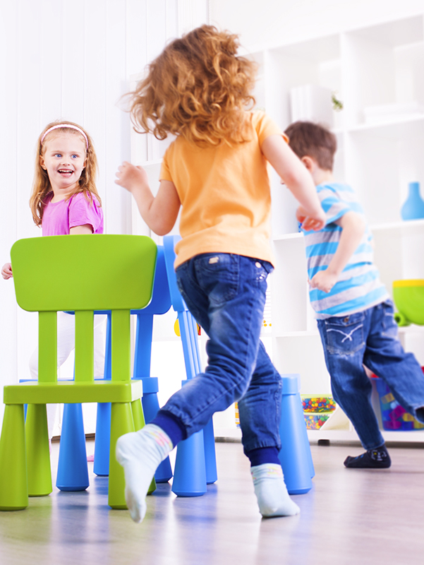 Children Playing Musical Chairs.